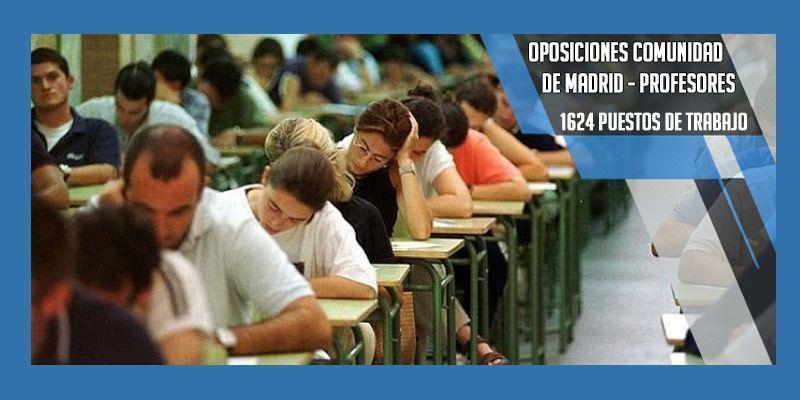 Madrid convoca una oposición de 1.624 plazas para profesores 👩🏫👨🏫