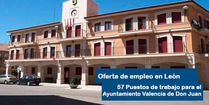 El Ayuntamiento de Valencia de Don Juan oferta 57 empleos