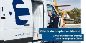 Ofertan 2000 empleo en la empresa Clece Madrid