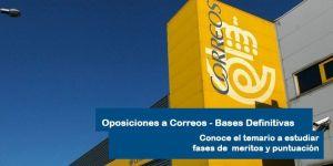 publicadas bases definitivas oposiciones Correos 2018