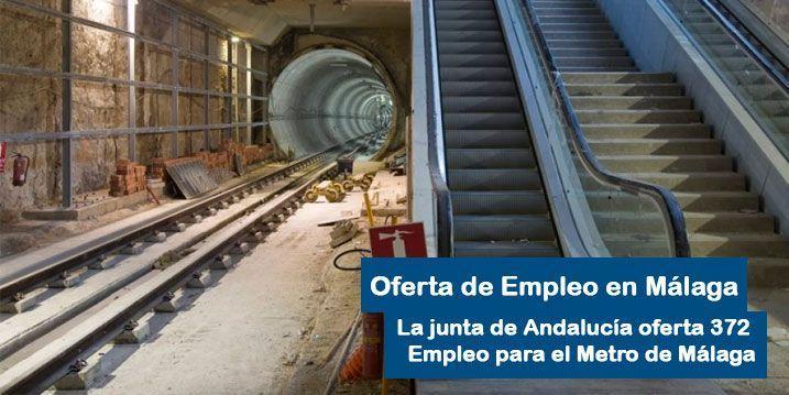 Las Obras del Metro de Málaga darán trabajo a 372 personas
