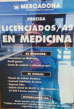 empleo mercadona medicina