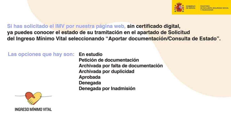 Estado captura de documentos y modificaciones en la solicitud Ingreso Mínimo Vital ¿que significa?