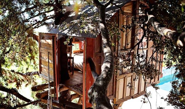 Cabaña en los árboles cerca de Granada