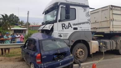 Photo of Conquista: Homem morre após acidente entre carro e carreta na BR-116