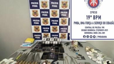 Photo of Operação da polícia apreende celulares, chips, facas e drogas dentro do Conjunto Penal de Jequié
