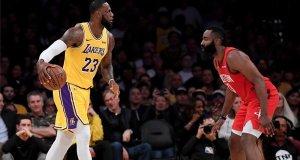 James da el triunfo a Lakers y Harden sigue con racha de 30 puntos