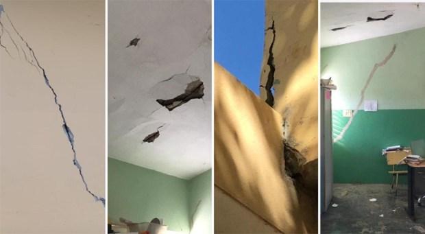 Resultado de imagen para sismos provocan grietas  escuelas RD
