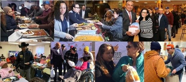 Miles personas en NY favorecidas en Thanksgiving con entrega comida y pavos..