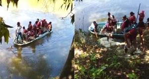 estudiantes-cruzan-rio-en-yola-para-tomar-docencia-en-bajo-yuna