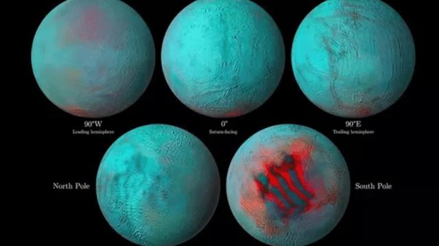 Hay Hielo Encélado Luna Saturno