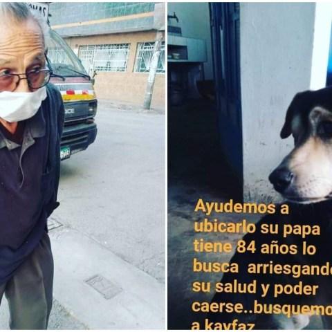 perro perdido, abuelito, Perú, redes sociales
