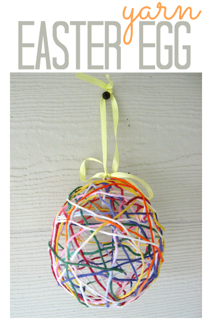 Blown out easter eggs, the artful parent. Easter Egg Yarn Craft For Kids No Time For Flash Cards