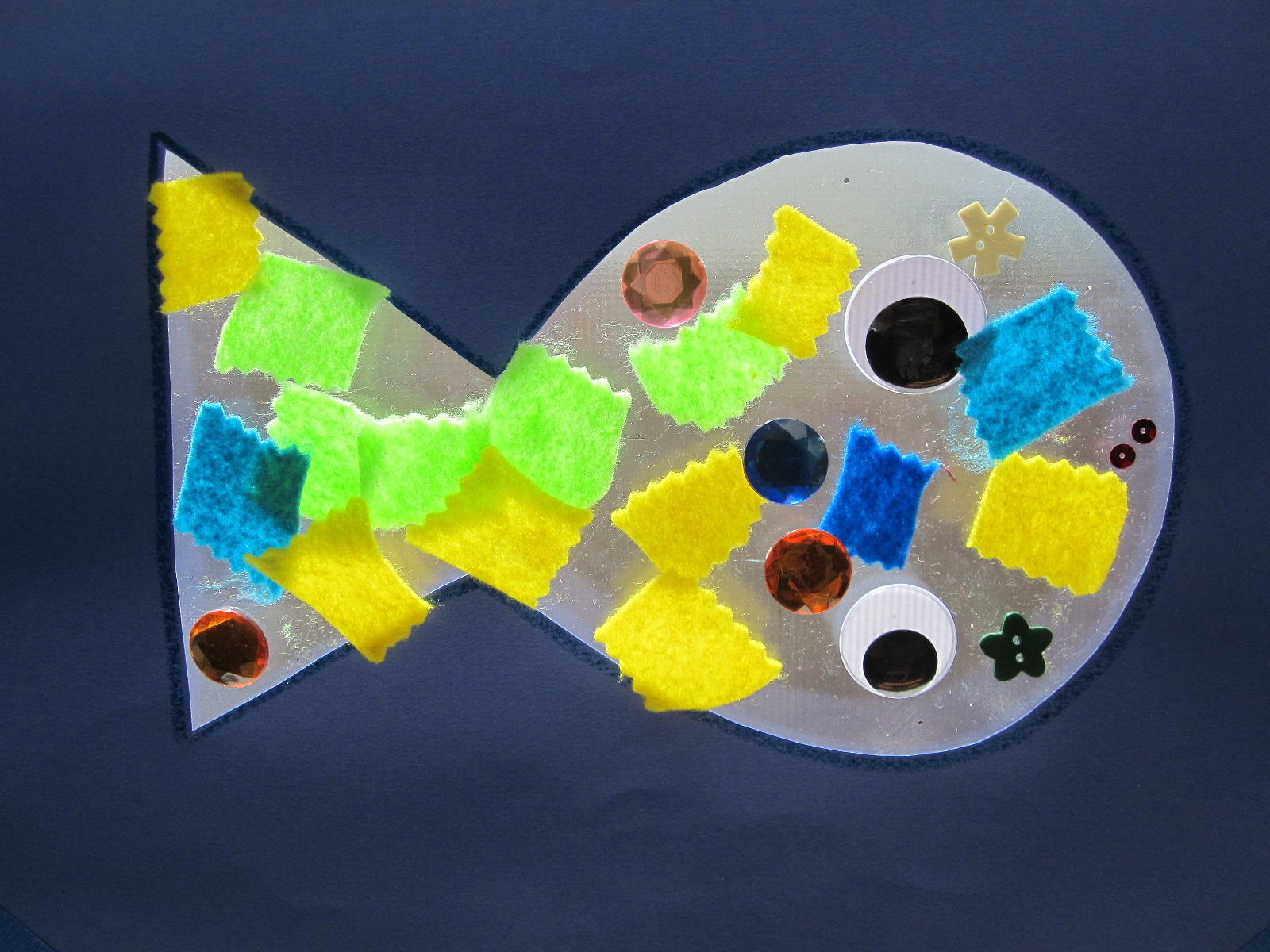 Preschool Crafts For Kids Easy Fish Sun Catcher Craft