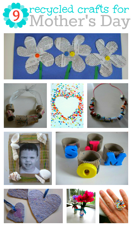 9 Recycled Mother's Day Crafts - No Time For Flash Cards