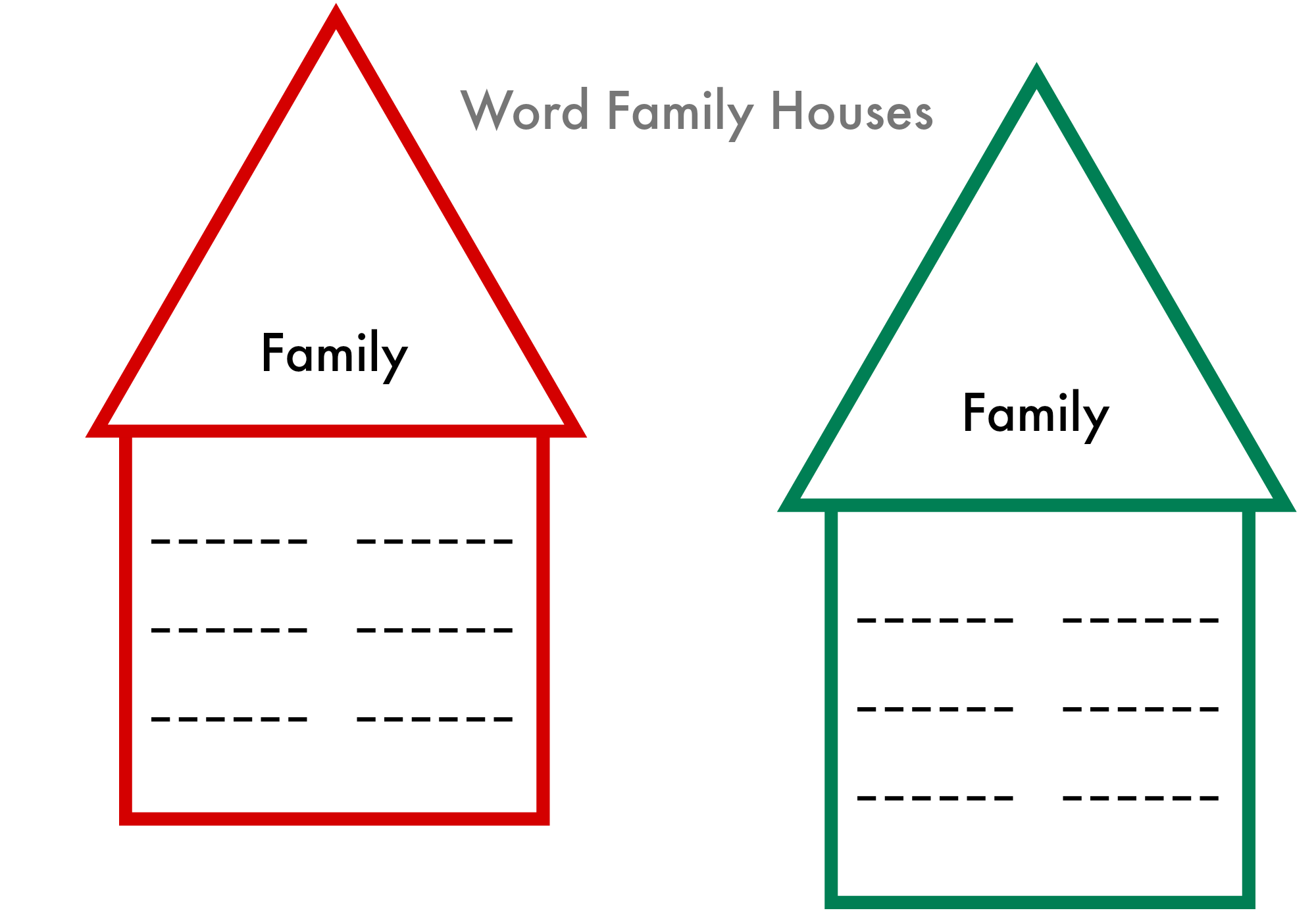 Word Families Printable
