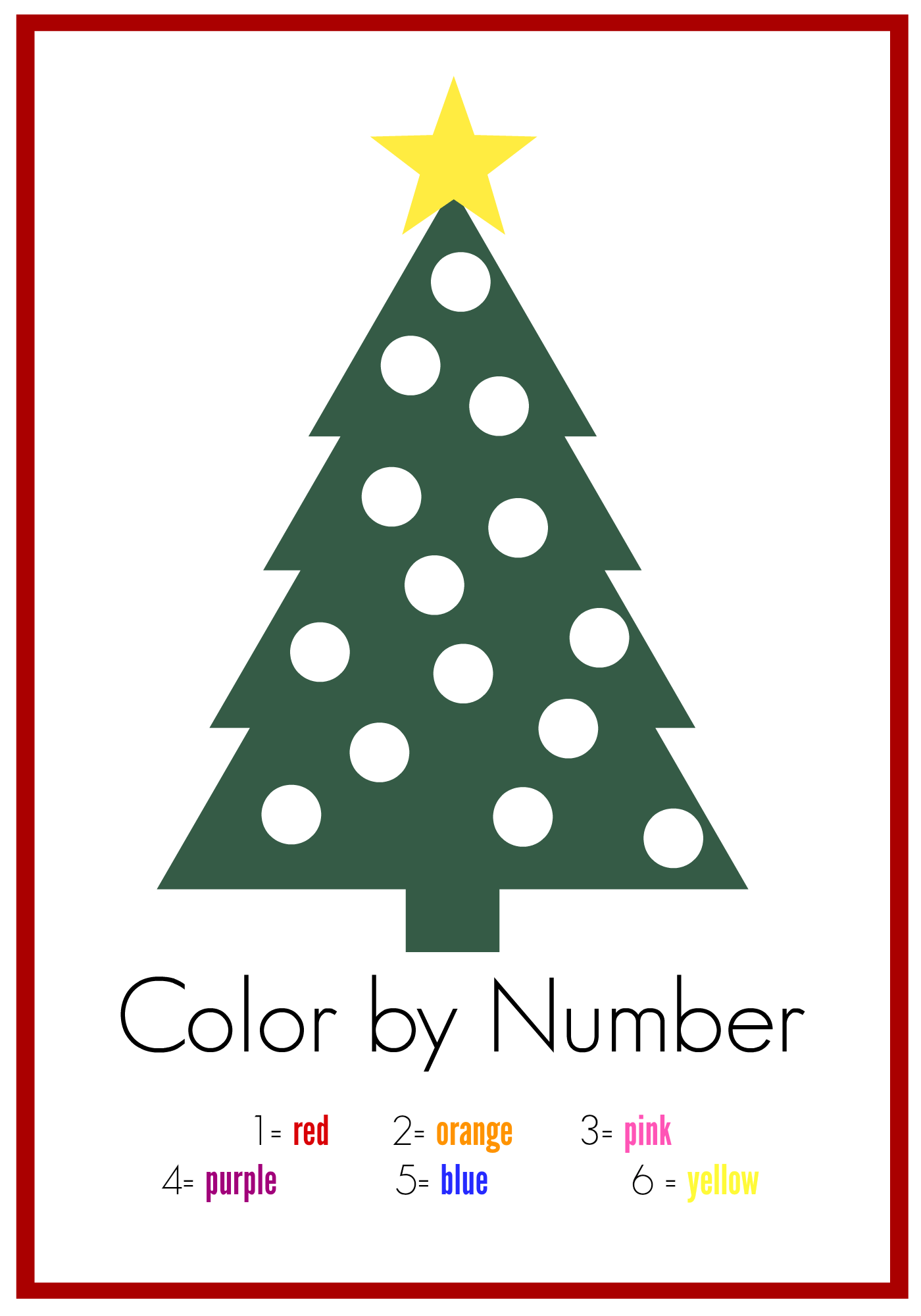 7 Ways To Use This Free Color By Number Printables