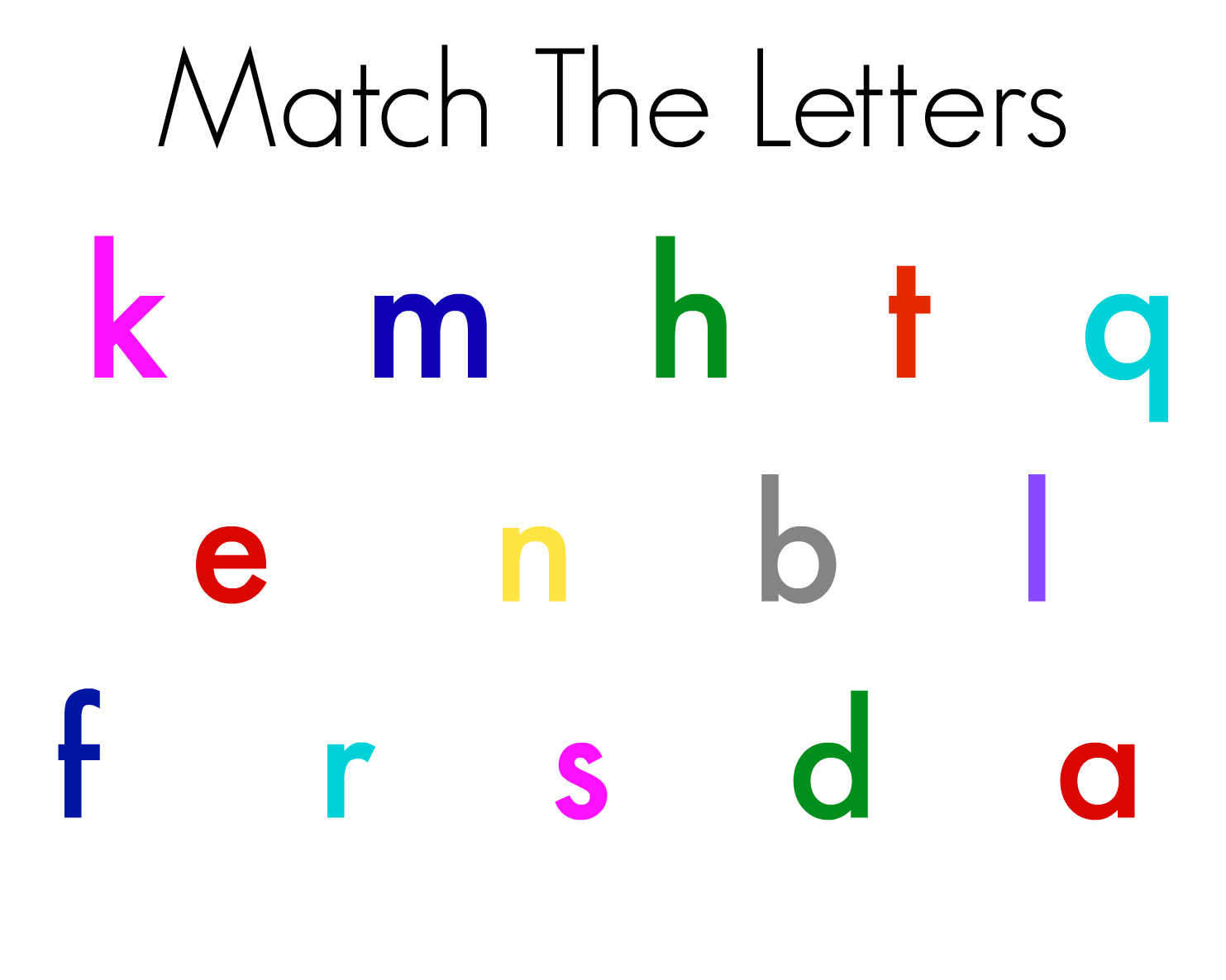 Letter Match Magnetic Letters