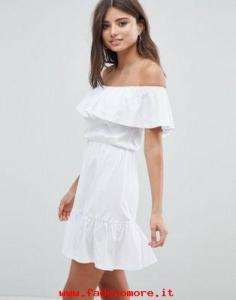 vestito bianco off shoulder