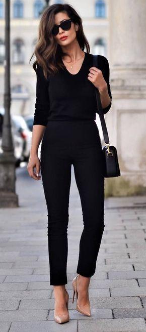 Vestirsi bene con poco - total black