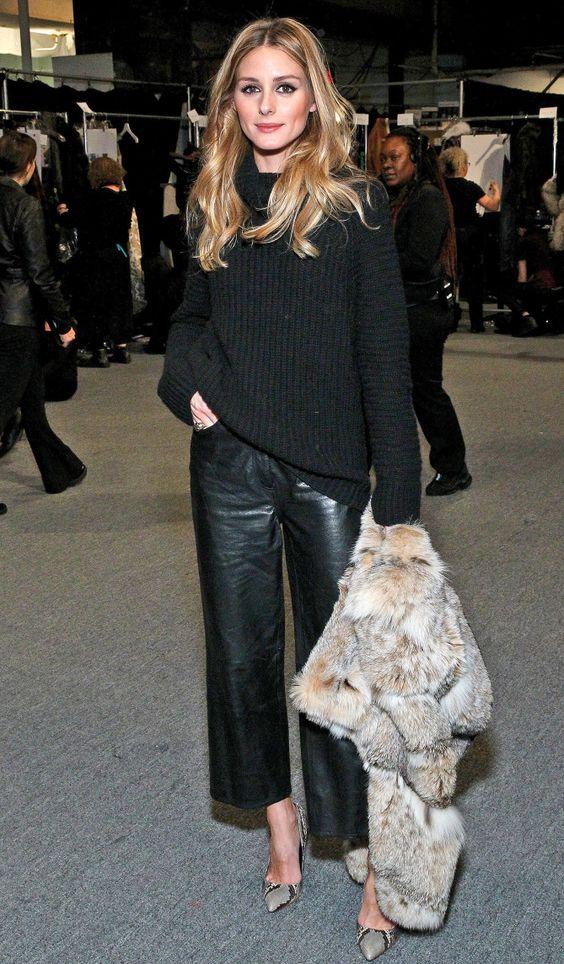 Vestirsi bene con poco - outfit nero con pelliccia