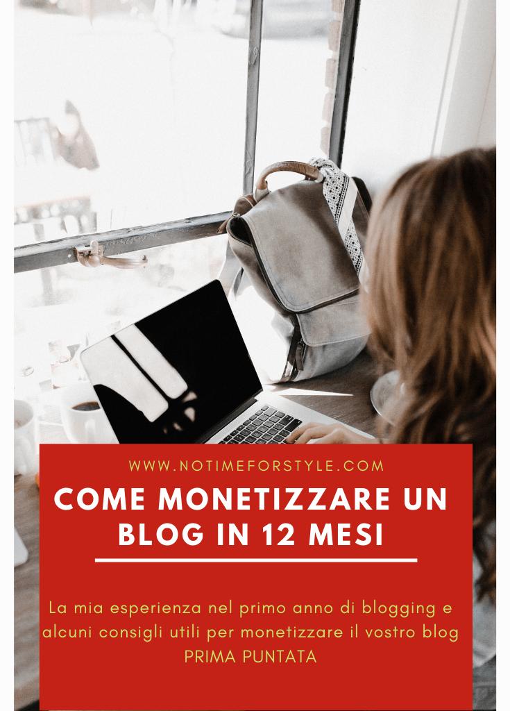 Monetizzare un blog in 12 mesi: cosa ho imparato nel primo anno di blogging (prima puntata)