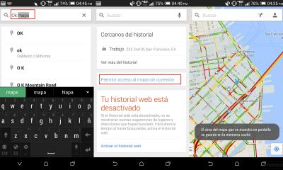 Google Maps sin Conexión a Internet Ahora