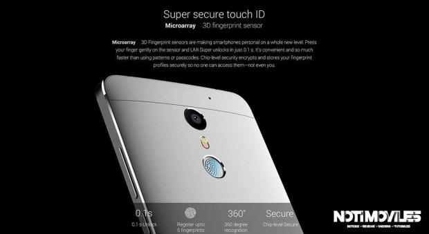 UMi Super Comparación Velocidad de Touch ID