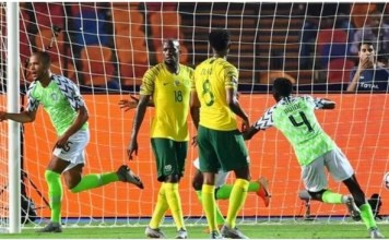 President Buhari Congratulates Super Eagles for Beating South African