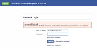 Facebook Disabled Account Appeal Link