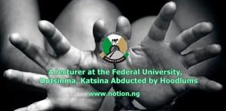 University Lecturer Mr. Abubakar Idris has been Abducted in Kaduna