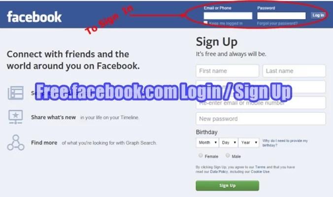 Up facebook sign
