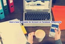 Disable An Account on Facebook Temporarily