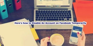 Disable An Account on Facebook Temporarily