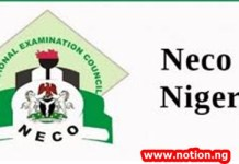neco result 2019