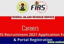 FIRS Recruitment 2021