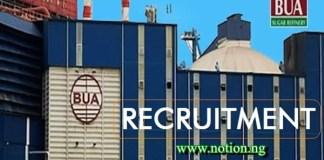 BUA Recruitment 2021