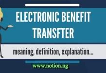 Electronic Benefits Transfer