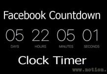 Facebook Countdown Clock Timer