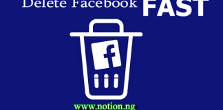 Facebook Delete Option