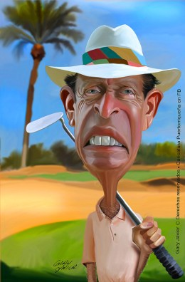 Chi Chi Rodríguez, estrella de golf   caricatura de Gary Javier
