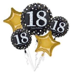 """BALÓNKOVÝ BUKET """"18. narozeniny"""" 5ks"""