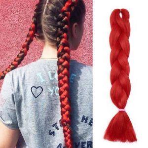 Vlasový příčesek - červený
