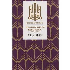 Single origin čokoláda z Dominikánské republiky. Pyšní se certifikací BIO a kakaové boby pro její výrobu pěstuje 165 malofarmářů.Každá single origin čokoláda je chuťový originál. Jedinečnou a neopakovatelnou chuť jí zaručují ty nejkvalitnější kakaové boby pocházející vždy z jediného regionu.V čokoládách z Dominikánské republiky ucítíte podtóny pražených arašídů