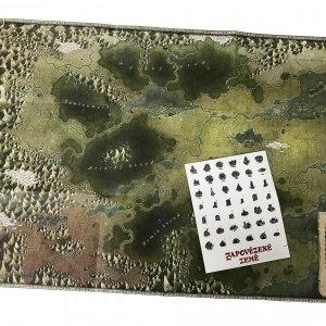RPG hra Zapovězené země - mapa a samolepky