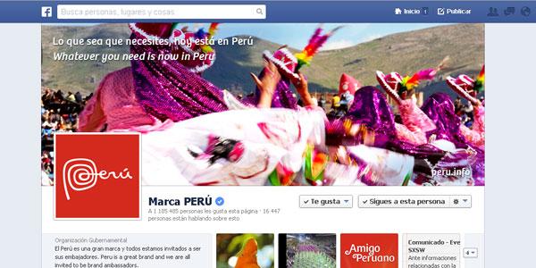Los destinos del Perú se posicionan en Facebook