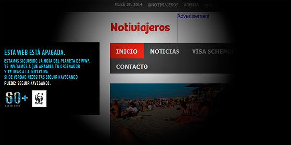 Notiviajeros se une a la Hora del Planeta APAGA INTERNET