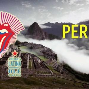 Machu Picchu en video promocional de los Rolling Stones América Latina Olé Tour 2016