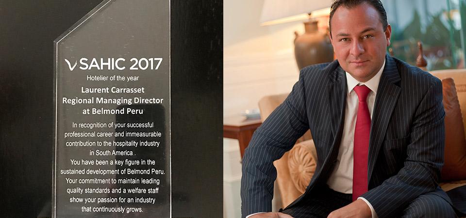 Director Regional de Belmond Perú recibe reconocimiento internacional