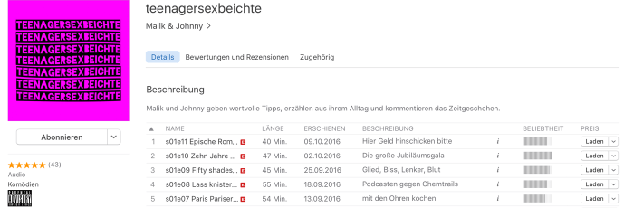 teenagersexbeichte screenshot itunes